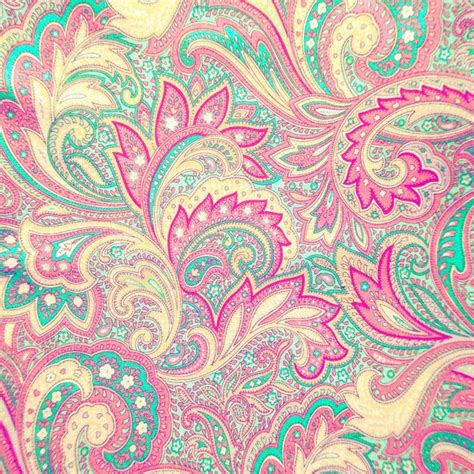 girly print wallpaper pink turquoise girly chic floral paisley pattern art print