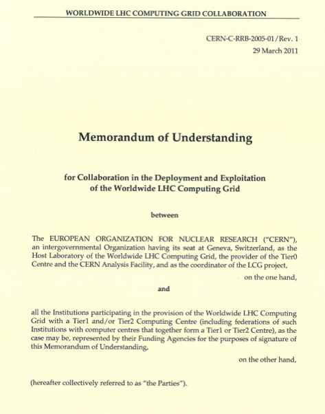 An Exle Of A Cover Letter by Memorandum Of Understanding Sle Free Printable Documents