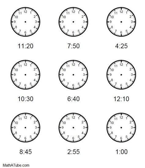 clock printable pinterest free telling time worksheets missing hands time clock