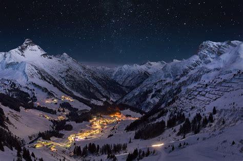 wallpaper winter  sky stars light snow