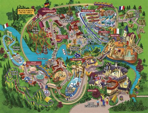Busch Gardens Pictures by Busch Gardens Park Map 2008 Mr Williamsburg Blogging On
