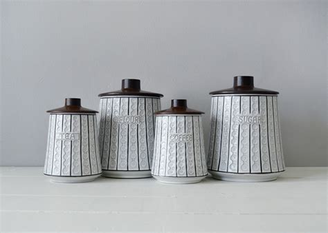 canister sets for kitchen ceramic mid century kitchen canisters ceramic canister set mid