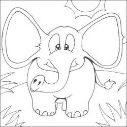 elephant coloring page i see an elephant coloring pages