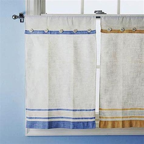 tea towel curtains yellow and blue kitchen curtains photo 10 kitchen ideas