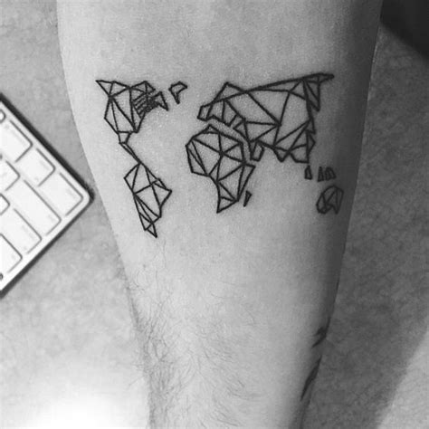 geometric tattoo thailand quot geometric world map tattoo thank you guys for 300k