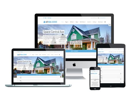Lt Real Estate Free Joomla Real Estate Template Real Estate Responsive Website Templates Free