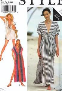 style caftan robe beachwear pattern 2441 uncut