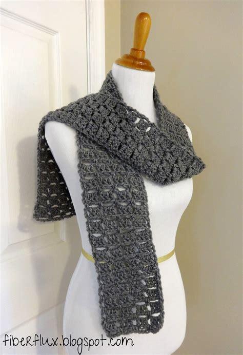 fiber flux free crochet pattern everybody scarf