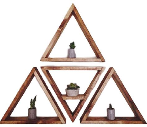 Black And White Dining Room Set 4 piece triangle shelf set light tan contemporary
