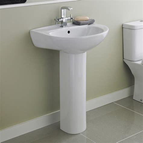 premier melbourne large basin and pedestal 550mm wide