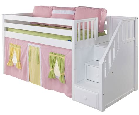 low loft twin bed maxtrix low loft bed with staircase white bed frames