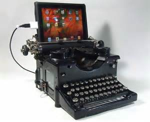 Small Desktop Computer Desk by Vintage Typewriter As Keyboard For Your Computing Device