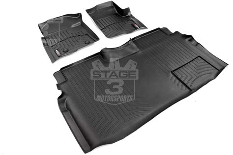 Ford F150 Supercrew Floor Mats by 2009 2014 F150 Supercrew Weathertech Front Rear Digital