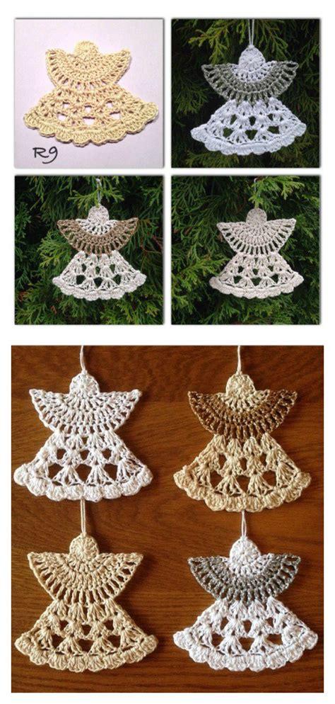 christmas angel ornaments free crochet pattern