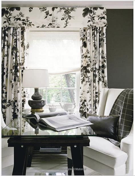Black And White Window Curtains Black White Floral Valance Curtains Valances Cornices Pelmets