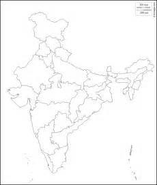 An Outline Political Map Of India by Geography India Outlines Maps