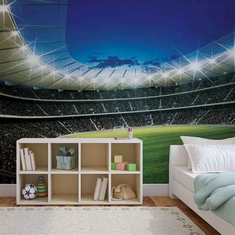 football murals for bedrooms giant size wall mural wallpapers football stadium