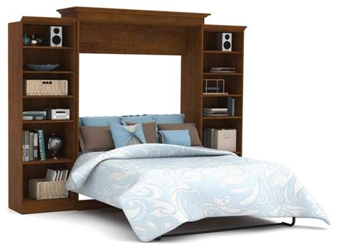 contemporary murphy beds 115 in queen wall bed with storage unit in tuscany brown