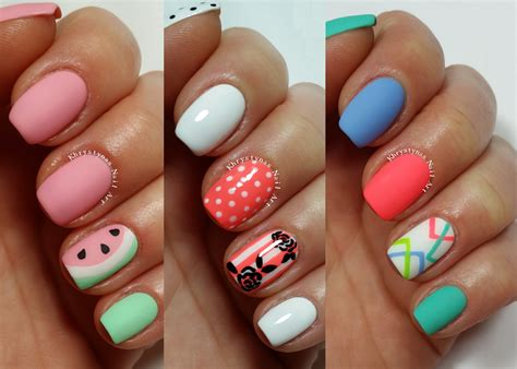 3 easy nail designs for nails freehand 2