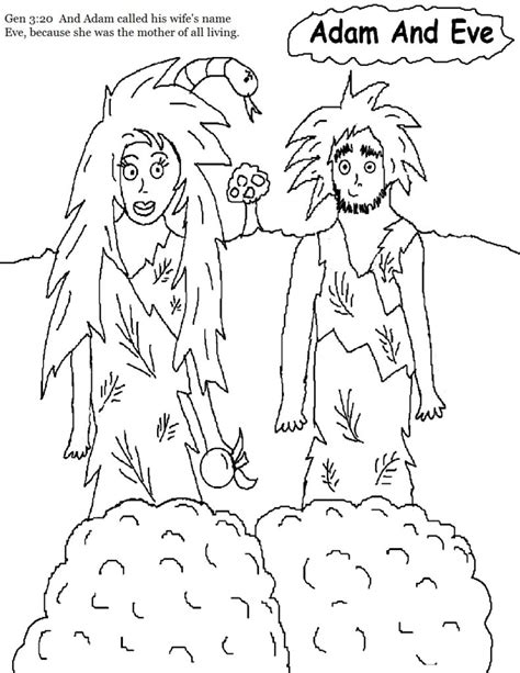 coloring pages free coloring pages of adam eve adam and