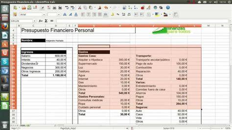 como hacer un presupuesto familiar como hacer un presupuesto financiero youtube