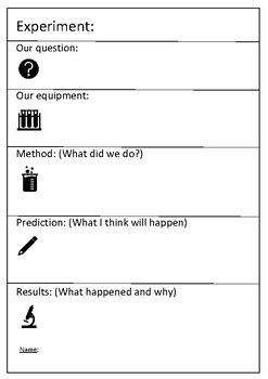 science experiment report template science experiment report template by byers tpt