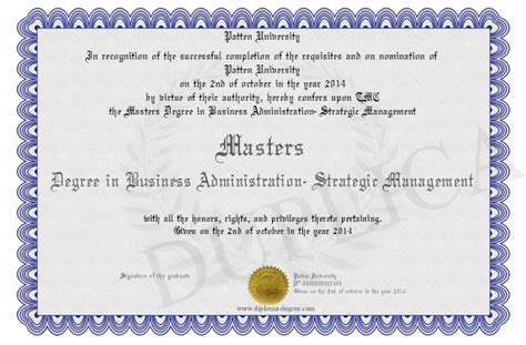 patten university address masters degree in business administration strategic