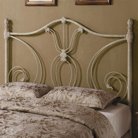 iron beds and headboards full queen white metal headboard