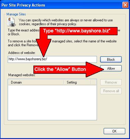 boat browser cookies how to enable cookies for www bayshorenj biz