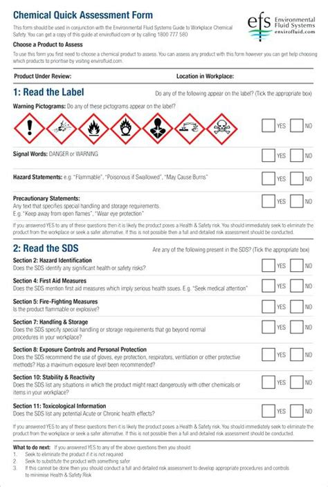 chemical risk assessment template printable chemical risk assessment template free