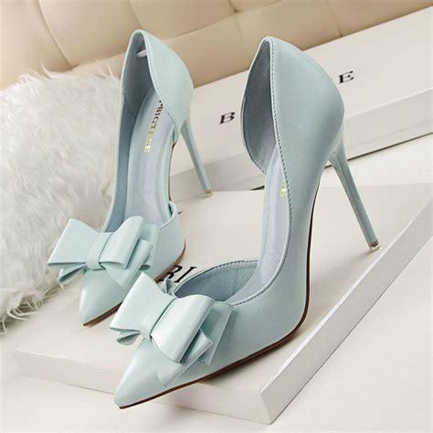 bowknot high heels 2018 fashion delicate sweet wedding bowknot high heel