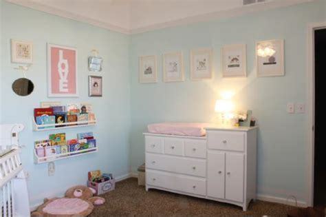 turquoise and pink nursery transitional nursery sherwin williams buoyant blue