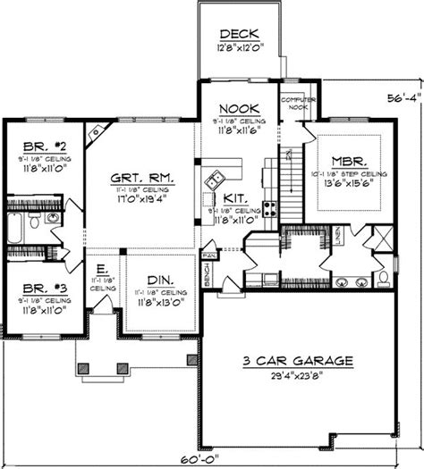 one level house plans with basement rambler house plans with basement and bonus room escortsea