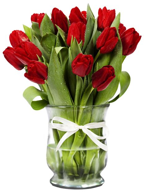 Flower Vase Png by Transparent Vase With Tulips Gallery Yopriceville