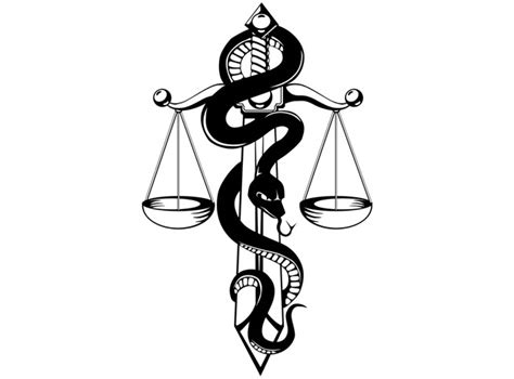 snake scales tattoo designs sword and snake w justice scales inspiration