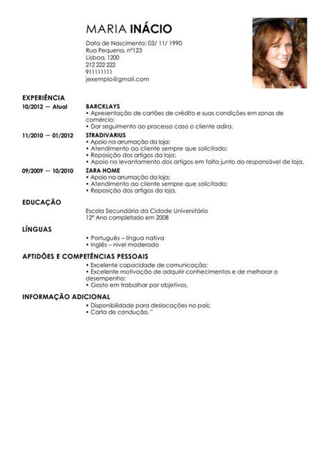 Modelo Curriculum Zara Modelo De Curriculum Vendedor Exemplo De Cv Representante De Vendas Livecareer