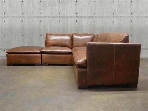 modular leather couch reno modular leather sectional sofa top grain aniline