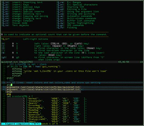 color themes vim calmar256 light dark vim 256 color scheme for a