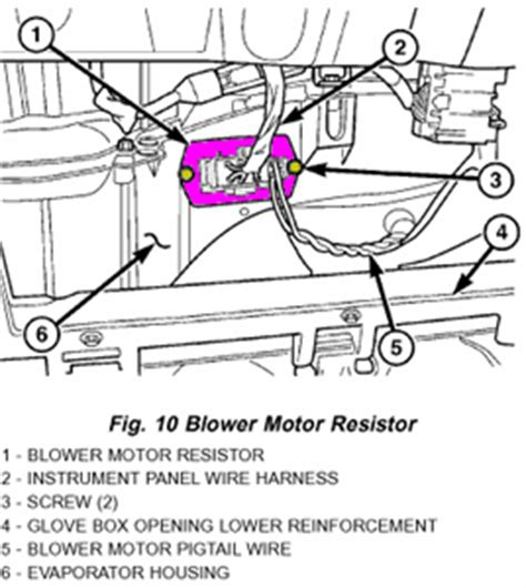 2001 dodge ram 1500 blower motor resistor replacement solved 2006 dodge 2500 diesel blower resistor where is fixya