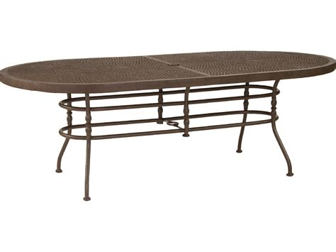 Patio Table Oval Castelle Veranda Cast Aluminum 86 X 44 Oval Dining Table