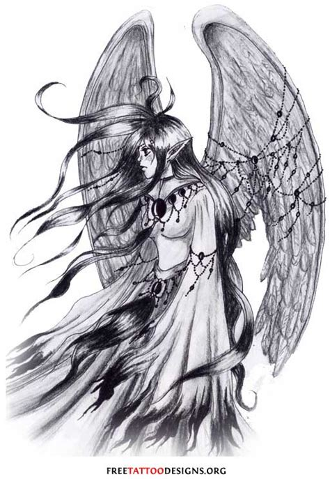 black and white angel wings tattoo designs tattoos wings guardian and st michael