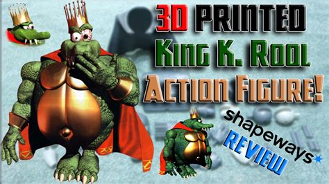 king k rool figure king k rool 3d printed figure shapeways review
