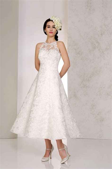 top wedding uk tea length wedding dresses the prettiest designs for vintage brides hitched co uk