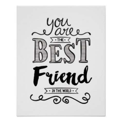 printable friendship poster best friend posters zazzle co uk