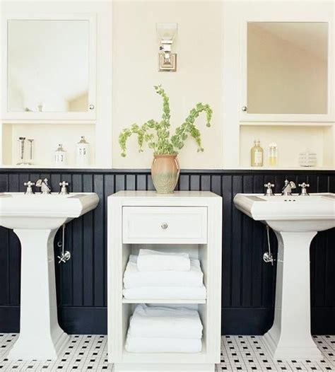 Black Wainscoting Bathroom Black Wainscot Master Bath Redo