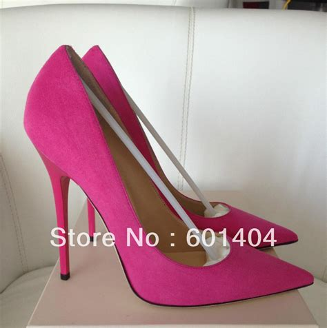 free shipping nouk pink fuchsia suede leather