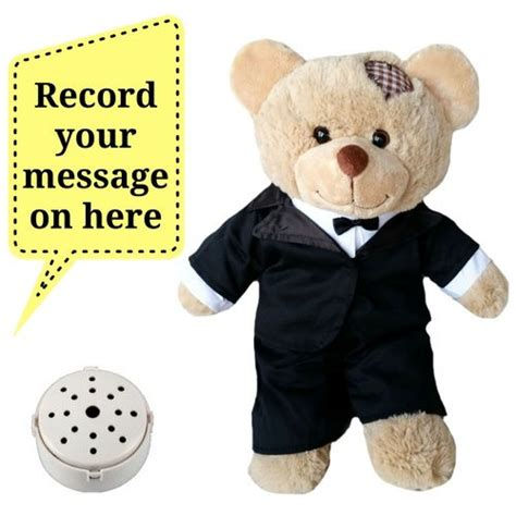 pictures of teddy bears in tuxedos 15 quot already stuffed brown patches bear with groom tuxedo