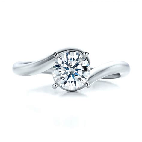 Contemporary Engagement Rings by Contemporary Solitaire Engagement Ring 100400