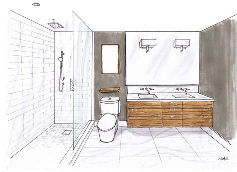 sketch of bathroom creed 70 s bungalow bathroom designs