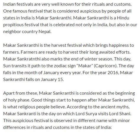 Makar Sankranti In Essay pdf makar sankranti kite day speech essay in marathi malayalam